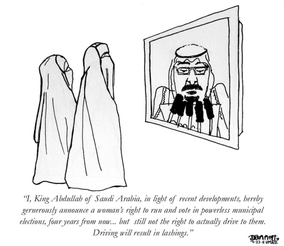 King Abdullah, cartoon