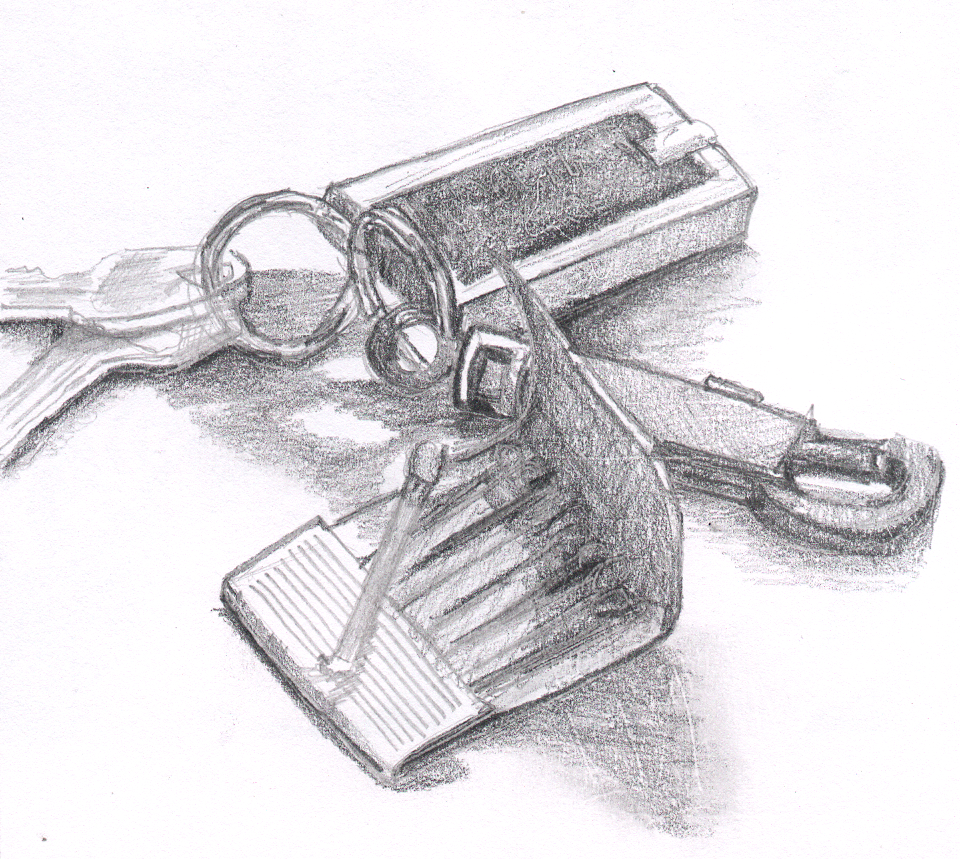 Scribble Drawing Objects : Draw a still life with several overlapping objects dan nott