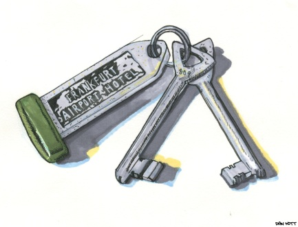My grandfather Stan was known for unusual collecting habbits. He bought a lot of gadgets- always in doubles. I had heard he collected keys while he was traveling on business and flying. There are hundreds of hotel sketleton keys he kept in an ammo box.