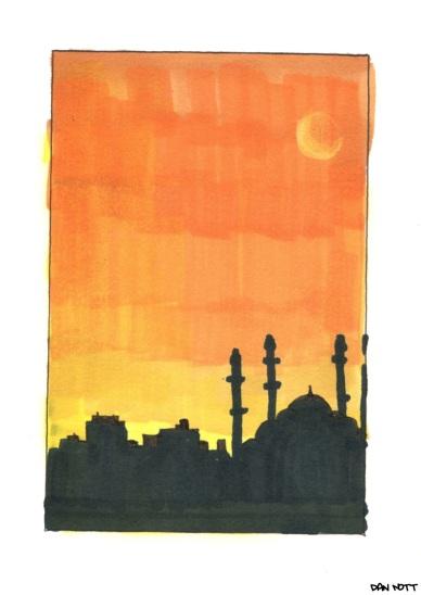 Istanbul skyline drawing