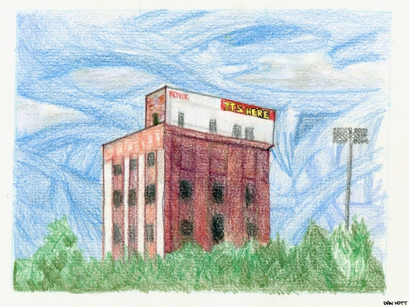 I saw this in Chattanooga when I was on tour with motel mattress this summer. I wanted to try and see if I liked colored pencils yet. not really.