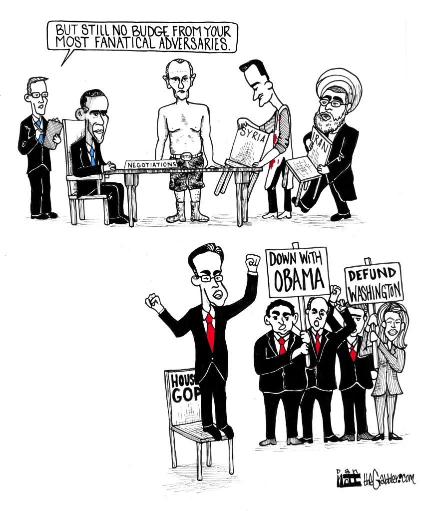 Obama Diplomacy Syria Iran Cartoon