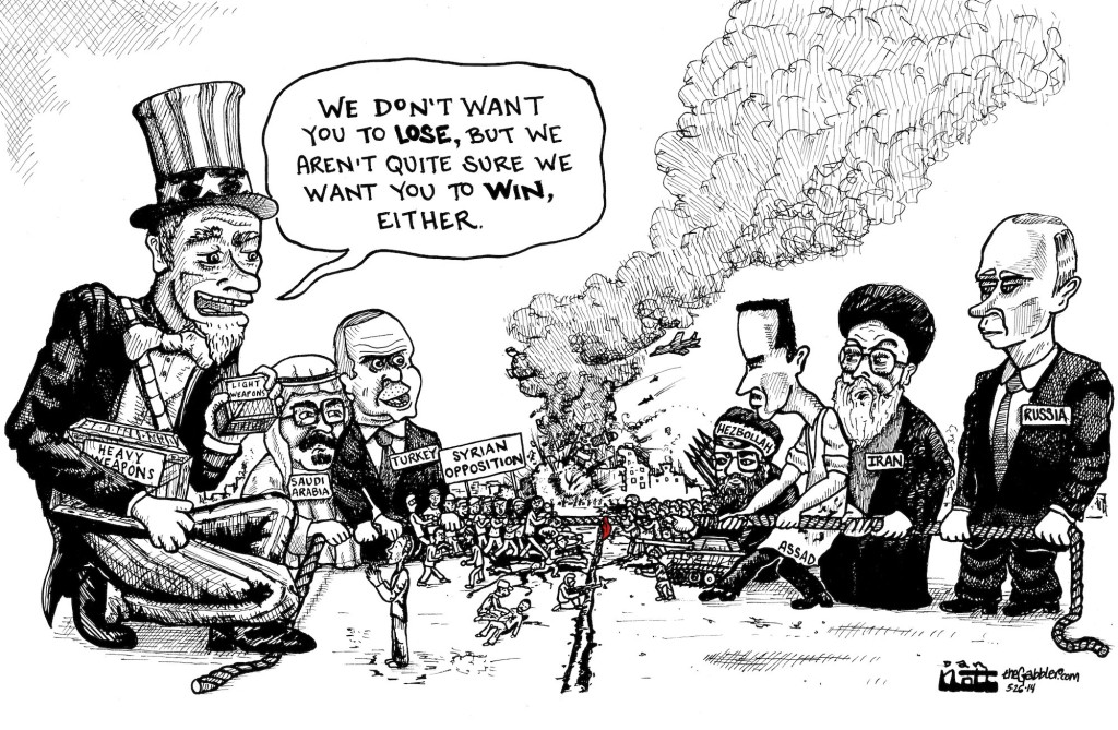 U.S. Intervention in Syria Cartoon