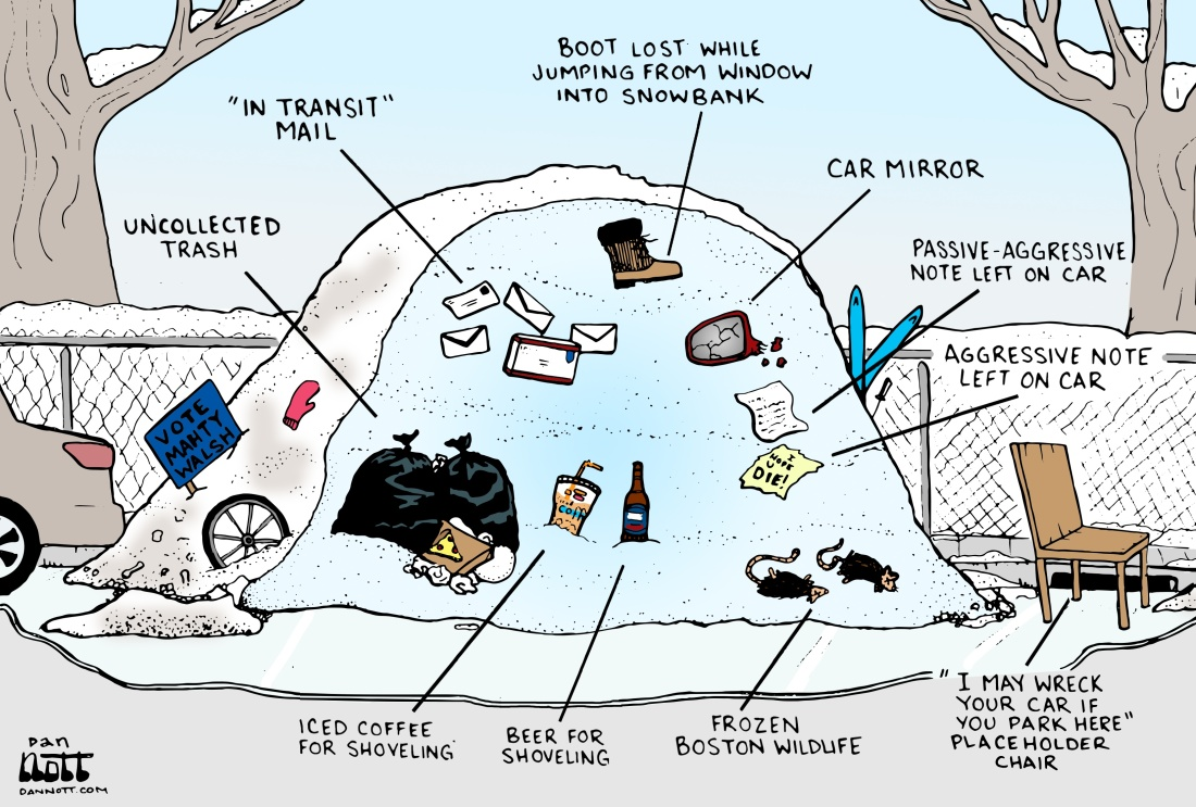 Boston Snow Bank Cartoon