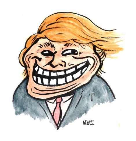 Donald Trump Troll Face Dan Nott