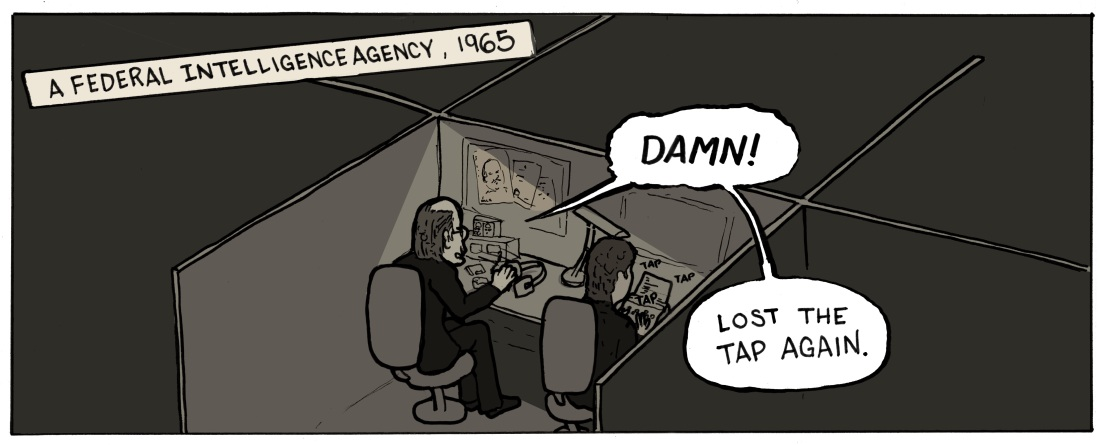 Spy Dreams panel 1