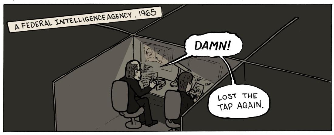 Spy Dreams panel 1